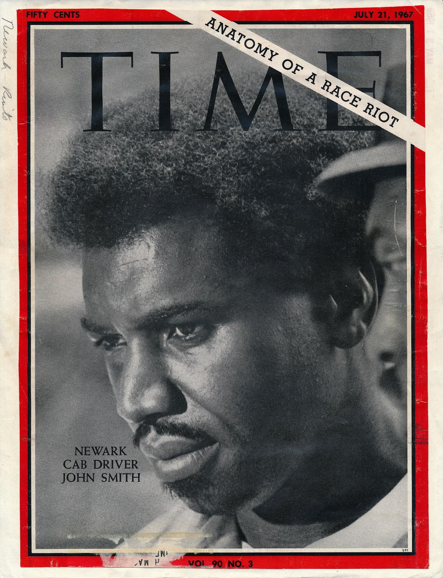 John Smith- TIME Magazine Cover (NPL, Newark-Riots Folder) - The ...